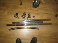 Drum rack tubes, clamps and tube end cymbal adapter