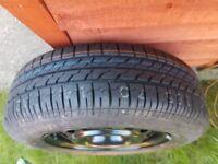 Bridgestone 185/70 R14 88H - steel wheel with new tyre