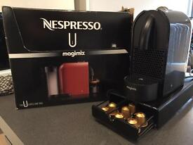 NESPRESSO MAGIMIX U PURE BLACK COFFEE MACHINE