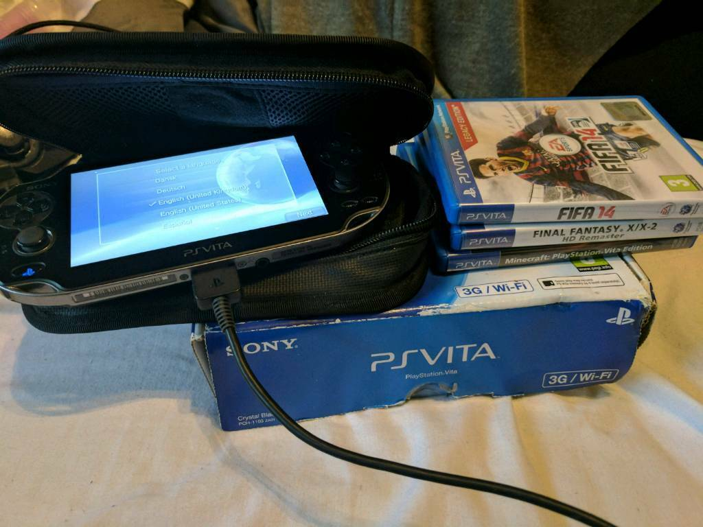 Psp Vita With Games And Carry Case In Kitts Green West Midlands Cystal Ps