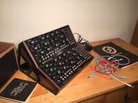 2 x Moog Mother 32 synthesizers with 2 tier stand