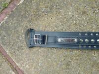 18'' black studded staffy collar ( new )