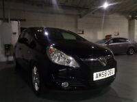 VAUXHALL CORSA DESIGN BLACK 1.4 PETROL 90 BHP 5 DOOR HATCHBACK 2008
