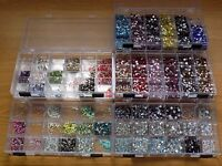 OVER 50,000 DECORATIVE RHINESTONE FLAT-BACK CRYSTALS IN MANY COLOURS & SIZES - INCLUDES SWAROVSKI