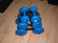 DUMBELLS-COMPACT SET-IDEAL FOR HOME USE