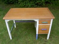 upcycled chalk painted desk\kitchen worktable