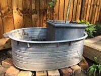 Tin Bath / Planter / Pond