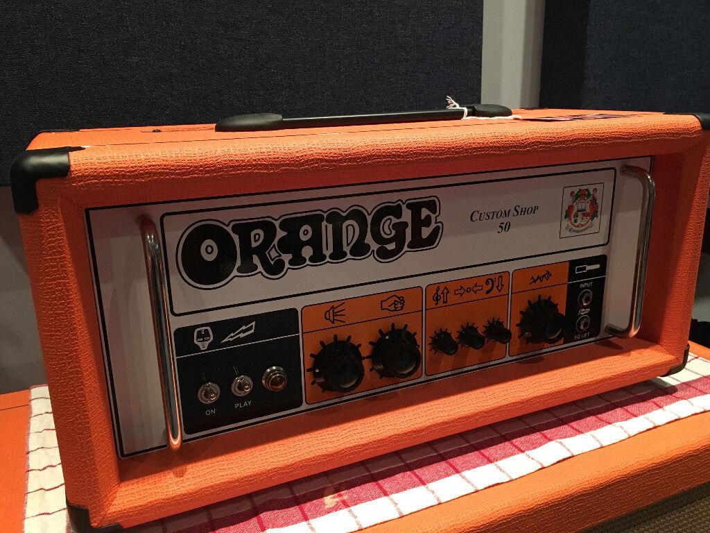 Custom Guitar Speaker Cabinets Orange Custom Shop 50 Guitar Amplifier Amp Orange Ppc212 2x12