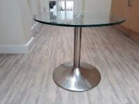 Stylish modern glass side table