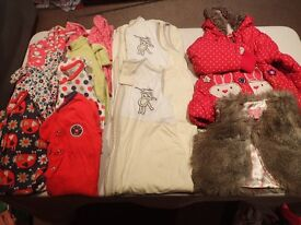 Large selection of girls clothes 9-12 months