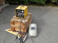 Electric Welding machine with rods and mask