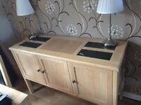 Dining table & 6 chairs and sideboard excellent condition