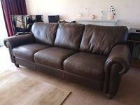 Natuzzi 3 seat leather sofa
