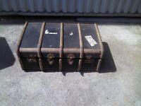Large Old Retro Travelcase / Suitcase