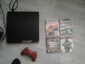 ps3 250gb with 4 great games