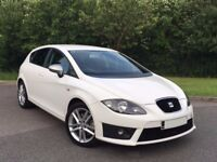 2010 Seat Leon 2.0 TDi FR White + 2 Owners & Full Seat History