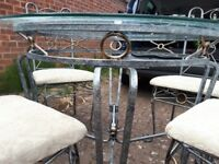 Stunning designer table and four chairs for sale