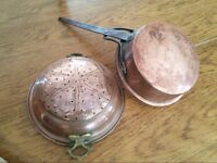 Copper pan and colander