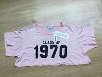 Wildfox cropped pink top