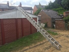 9m Metal Ladder with Stand-Off Brackets