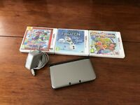 Nintendo 3DS XL Black / Silver With Charger - Games - Carry Case - SD Card