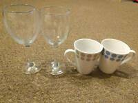 Wine glasses and cups