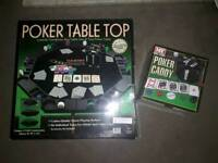 M.Y Poker Table Top & Poker Caddy