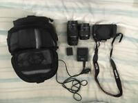 Canon Camera ESO 1200D with 18-55mm AND 75-300mm lens