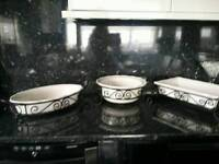 3 large serving dishes never used immaculate condition
