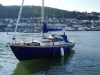 Macwester 27 sailing boat / cruiser in very good condition