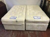Double divan with 4 drawers or two singles with 2 drawers each