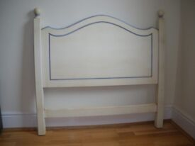 Pair of lovely painted wood single bedheads