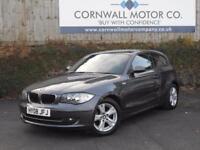 BMW 1 SERIES 2.0 118I SE 3d 141 BHP NEW MOT AND SERVICE (grey) 2008