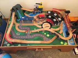 Children's train set table