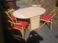 Butterfly Extendable Oval Table & 4 Chairs
