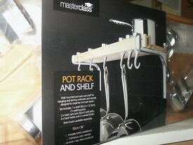 Master class pot rack and shelf NEW and boxed and unopened.