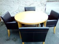 Circular Dining Table & 4 chairs
