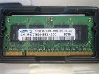 Laptop memory 2Rx16 PC2 512MB x 2
