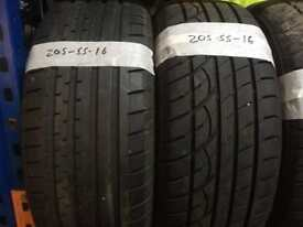 205 55 16 part worn tyres 5+mm tread ** FREE FITTING AND BALANCING**