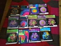 A and AS level Chemistry and Biology books