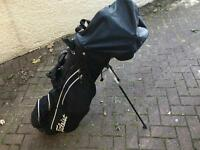 Left handed golf clubs, bag, starter kit
