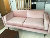 Lille Debenhams Sofa (Pink Velvet)