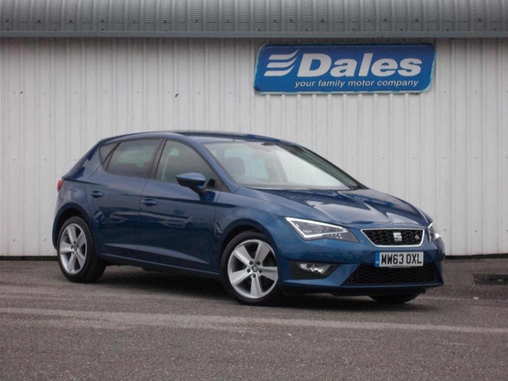 seat leon 2 0 tdi fr 5dr technology pack 150 hatchback blue 2013 in newquay cornwall. Black Bedroom Furniture Sets. Home Design Ideas