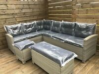 Outdoor corner sofa Furniture - Luxury 10 Seater Casual Rattan Garden Set - Delivery available