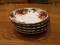 Royal Albert china saucers