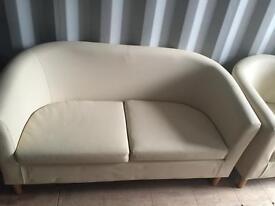 Sofa and tub chair