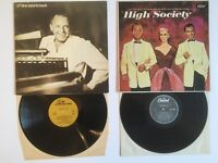 2 Vinyl LP Records Albums - High Society + Ol Blue Eyes is Back - Frank Sinatra Crosby & Grace Kelly