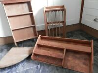 Four Piece Solid Wood Kitchen Storage Set Upcycle Possible
