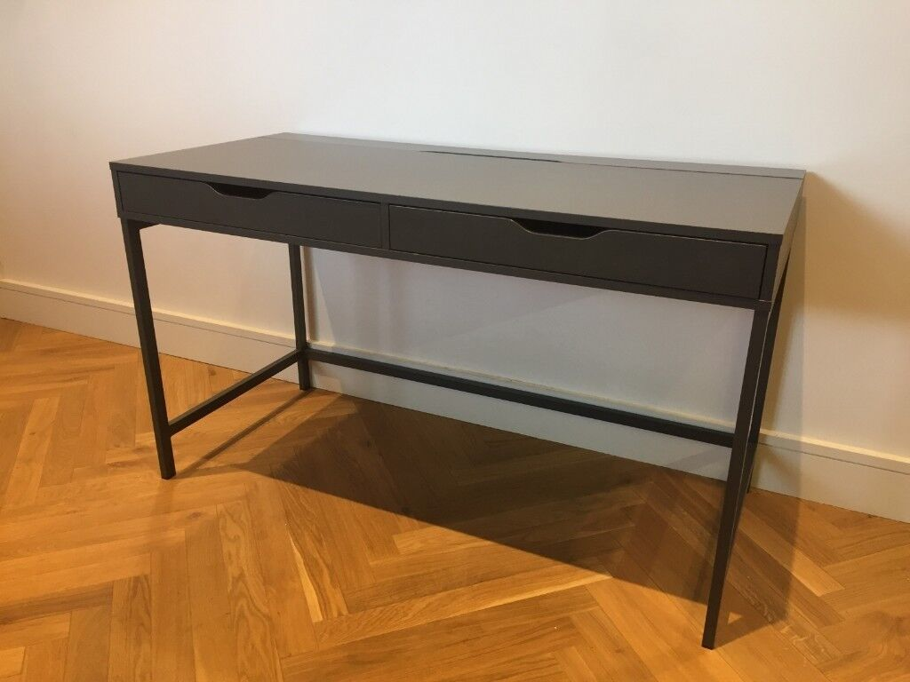 Ikea charcoal grey desk with drawers in hammersmith london