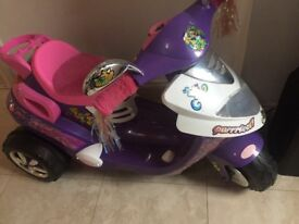 Girls battery powered bike